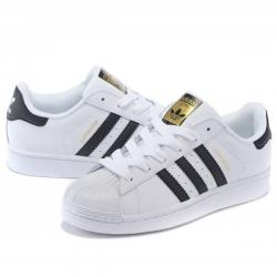 Adidas superstar white black shoes online