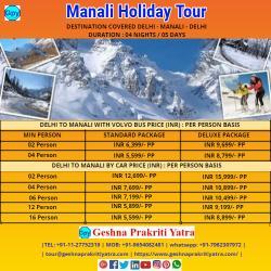 Manali Holiday Tour