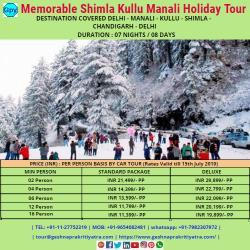 Memorable Shimla Kullu Manali Holiday Tour