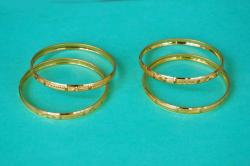 gargi jwelles Gold Plated Bangles daily ware Set For Women and Girls