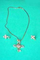 American Diamond Pendant Set By gargi jewels for every Princess